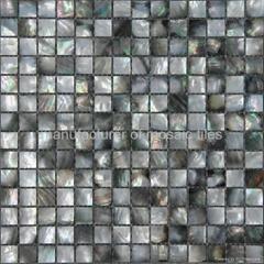 black mop shell mosaic
