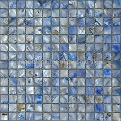 blue color shell mosaic tile