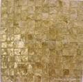 natural color shell paper mop mosaic