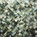 Black mother of pearl mosaic panel