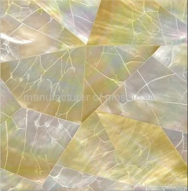 黄蝶贝裂纹拼马赛克装饰板 1