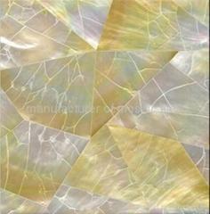 黄蝶贝裂纹拼马赛克装饰板
