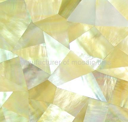 黄蝶贝裂纹拼马赛克装饰板 2