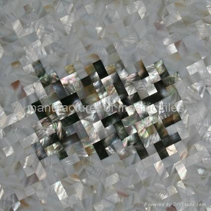 黑蝶贝淡水贝马赛克装饰板 3