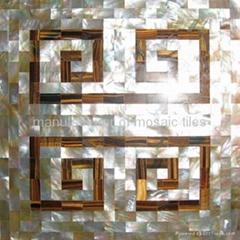 珍珠貝母&虎眼石裝飾板