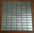 silver color mosaic metal mosaic