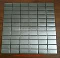 silver color mosaic metal mosaic
