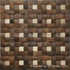 椰壳马赛克,椰壳板饰面板  4