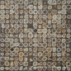 漂白椰壳马赛克装饰板JH-K27 5