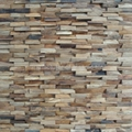 handmade oak wood mosaic panels