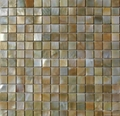 yellow  mop shell mosaic pearl tile