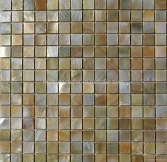 yellow  mop shell mosaic pearl tile