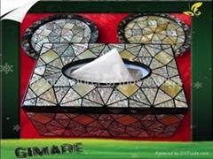 黑蝶貝餐巾盒