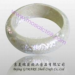 white pearl shell bracelet