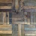 square old ship wood mosaic