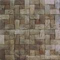 椰壳马赛克墙面板 4
