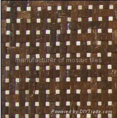椰壳马赛克墙面板 5