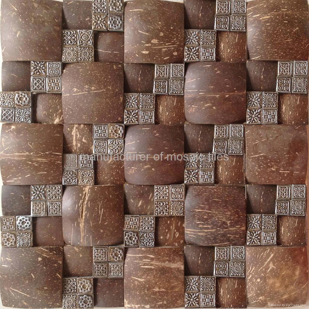 椰壳树脂马赛克 2