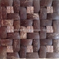 brown color coconut resin mosaic