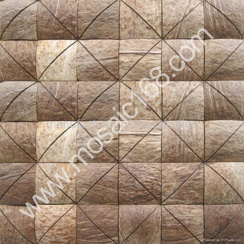 Coconut mosaic mural