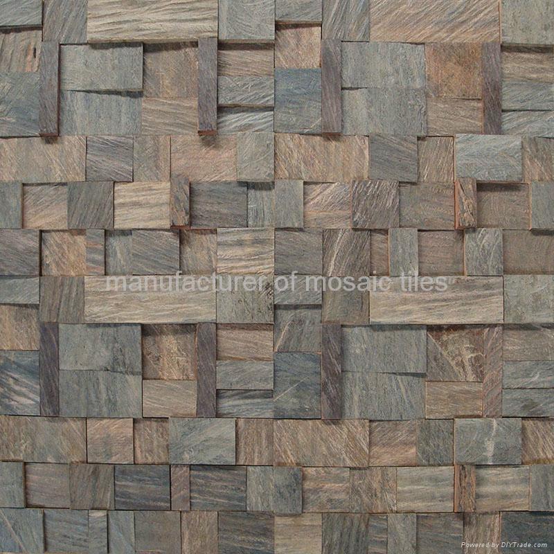 cumaru wood mosaic wall panels  4
