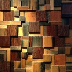 Chinese old ship wood mosaic