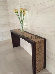 Coconut mosaic wood  table panel