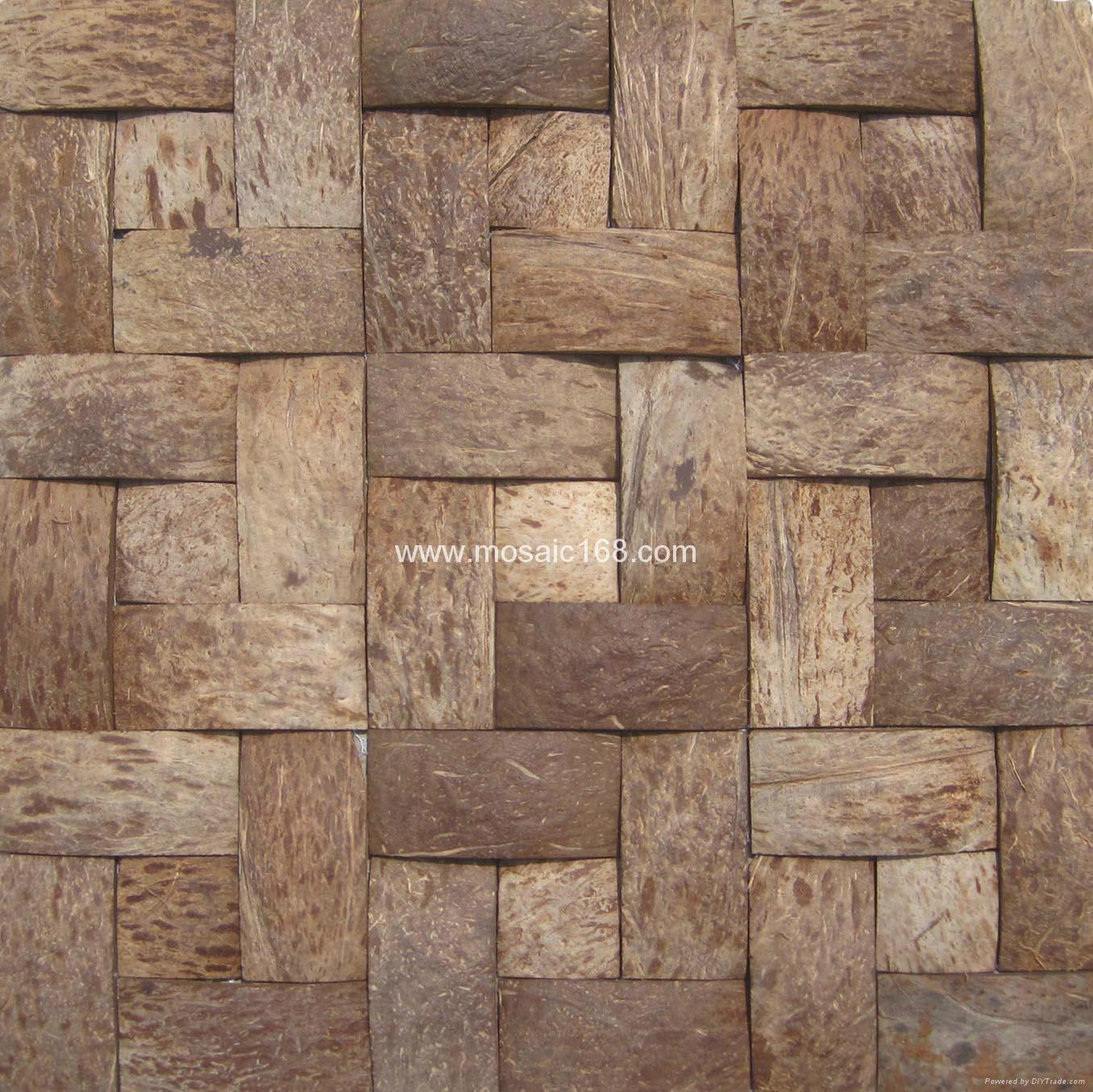 深棕色椰壳马赛克装饰板 6