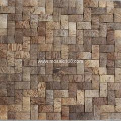 編織紋椰殼馬賽克