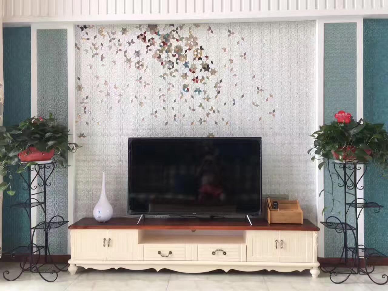 客厅背景墙玻璃马赛克拼花 12