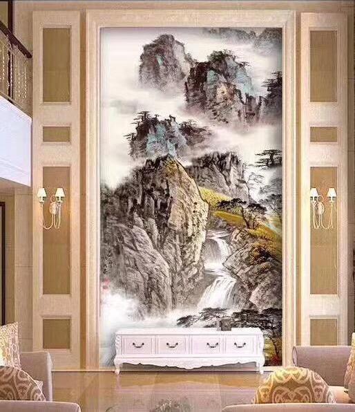 客厅背景墙玻璃马赛克拼花 4