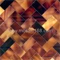 棕色贝壳墙面装饰板马赛克