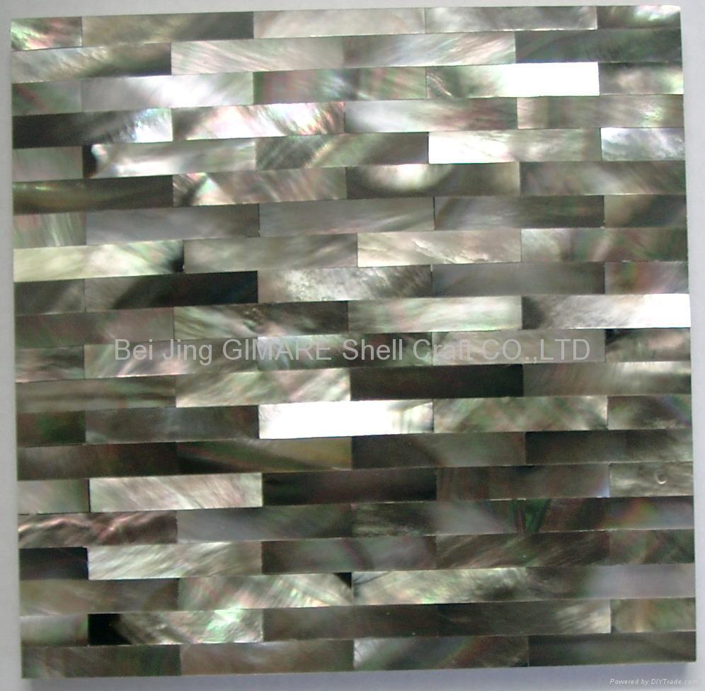深海黑珍珠贝壳马赛克墙面板 3