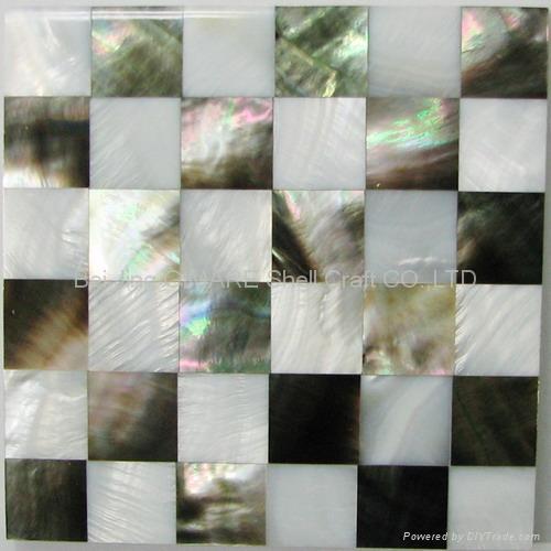 深海黑珍珠贝壳马赛克墙面板 4
