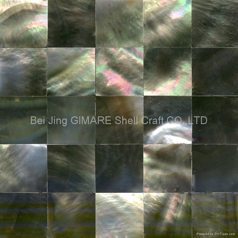 深海黑珍珠贝壳马赛克墙面板 5