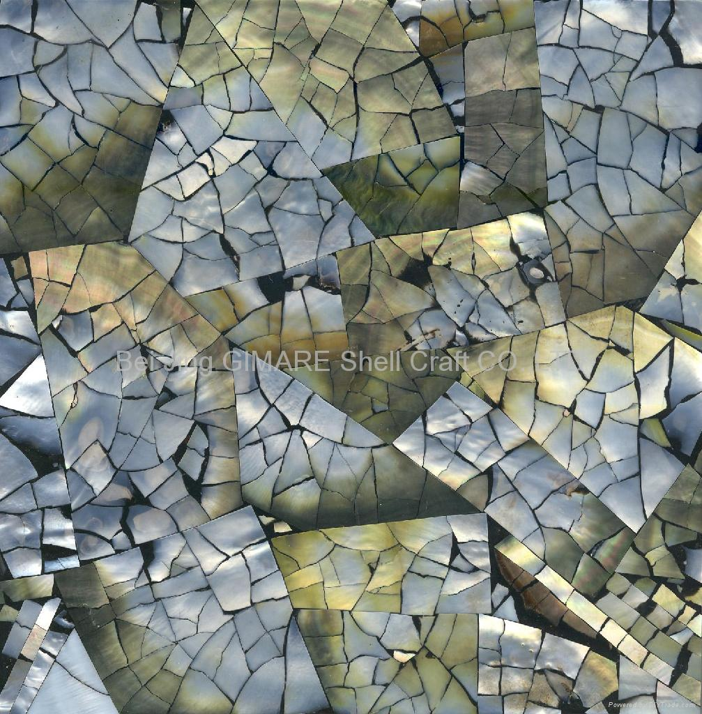 Mother Of Pearl Shell Tile Crackle Design Pm002 L