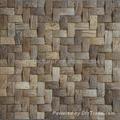 Coconut tile mosaic weave design