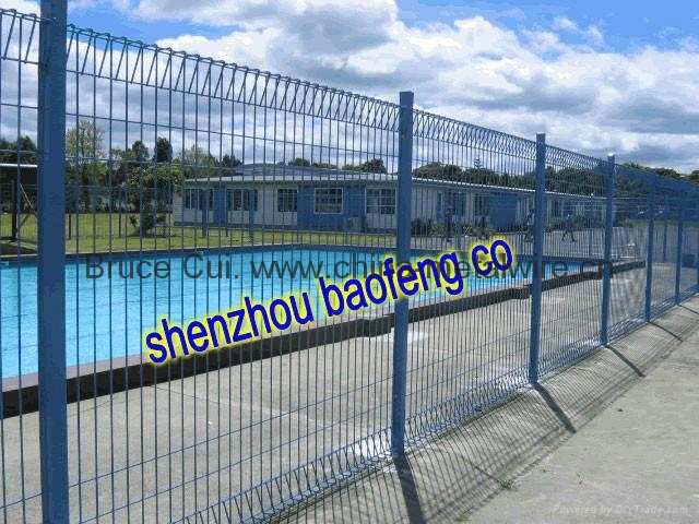 Rolltop fence pool brc mesh galvanized fencing