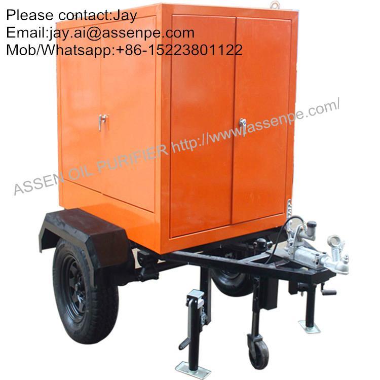 trailer mounted high efficiency vacuum transformer oil dehydration machine 1