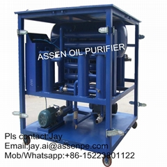 Double-Stage Highly Effective Transformer Oil Filtration machine