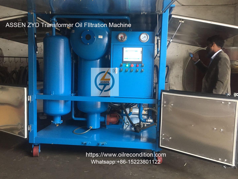 9000 LPH vacuum Transformer Oil Filtration Plant 1