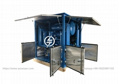 weather-proof type  double stage transformer oil treatment machine