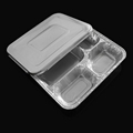 4-compartment aluminum foil container