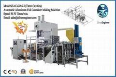 Real Automatic Aluminum Foil Container Machine