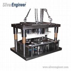 420ml铝箔餐盒模具