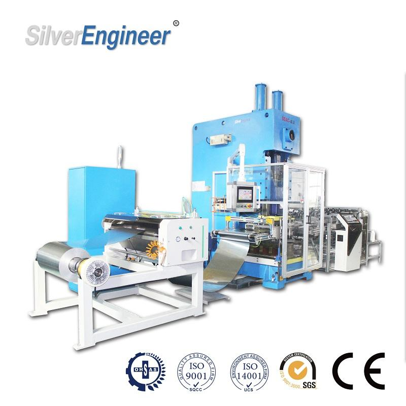 Real Chinese Automatic Aluminum Foil Container Machine