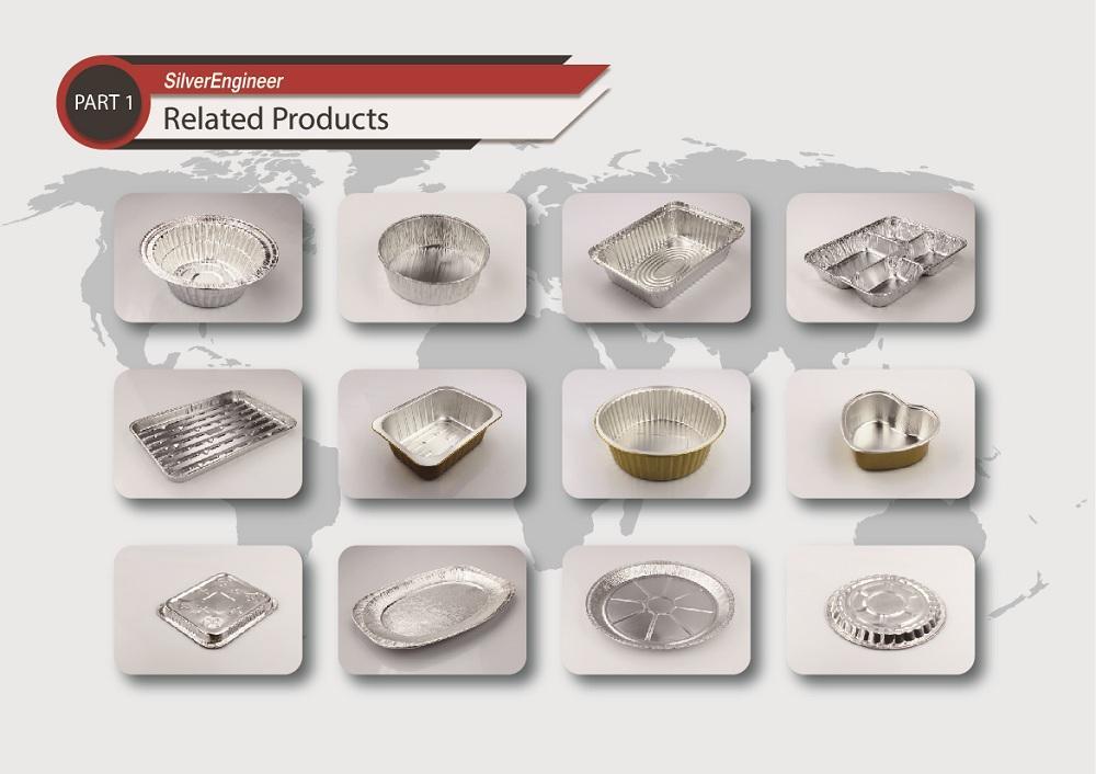铝箔航空无皱餐盒模具 9
