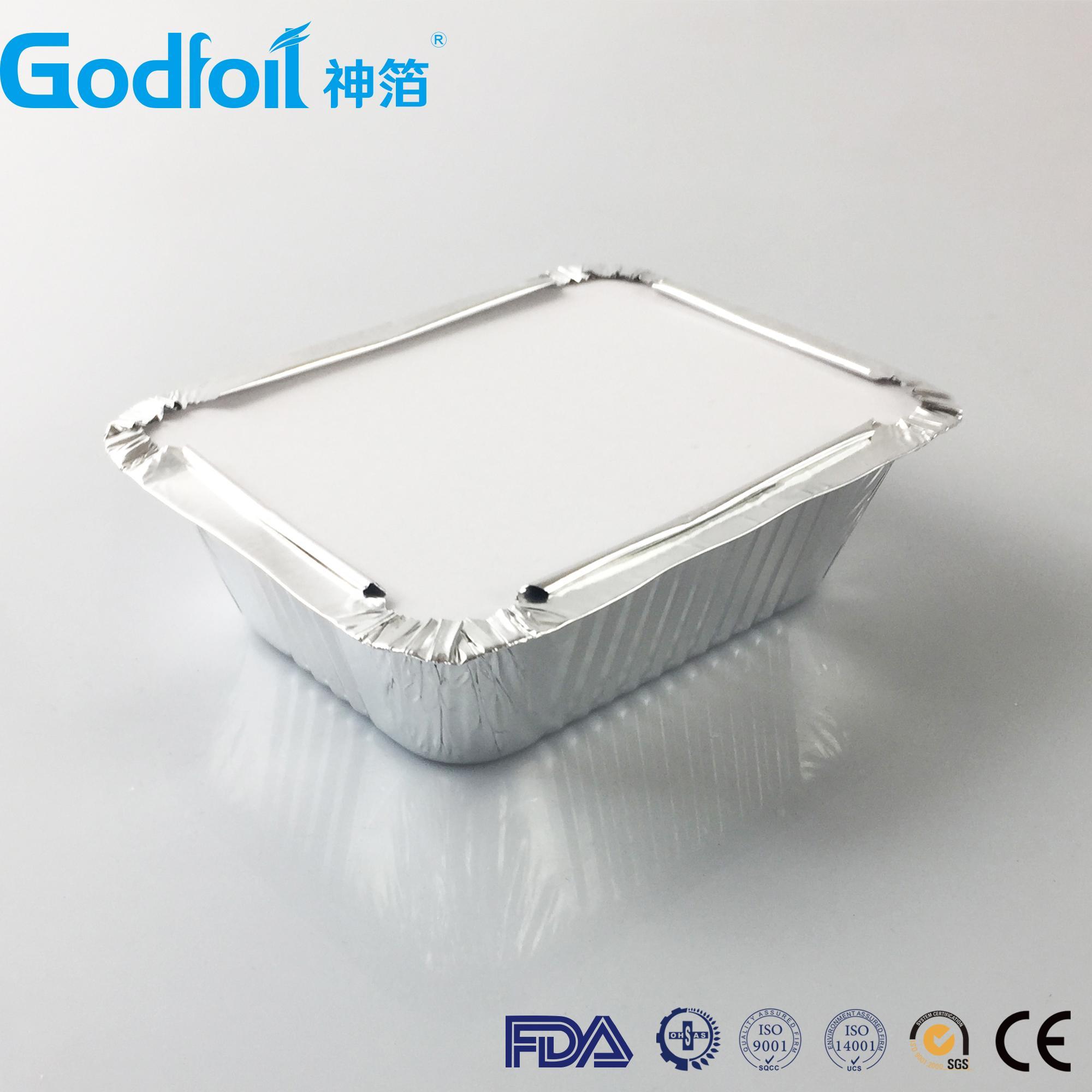 Anti-Curl Laminated Paper Board Lids For Aluminum Foil Container 2