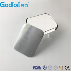 Anti-Curl Laminated Paper Board Lids For Aluminum Foil Container