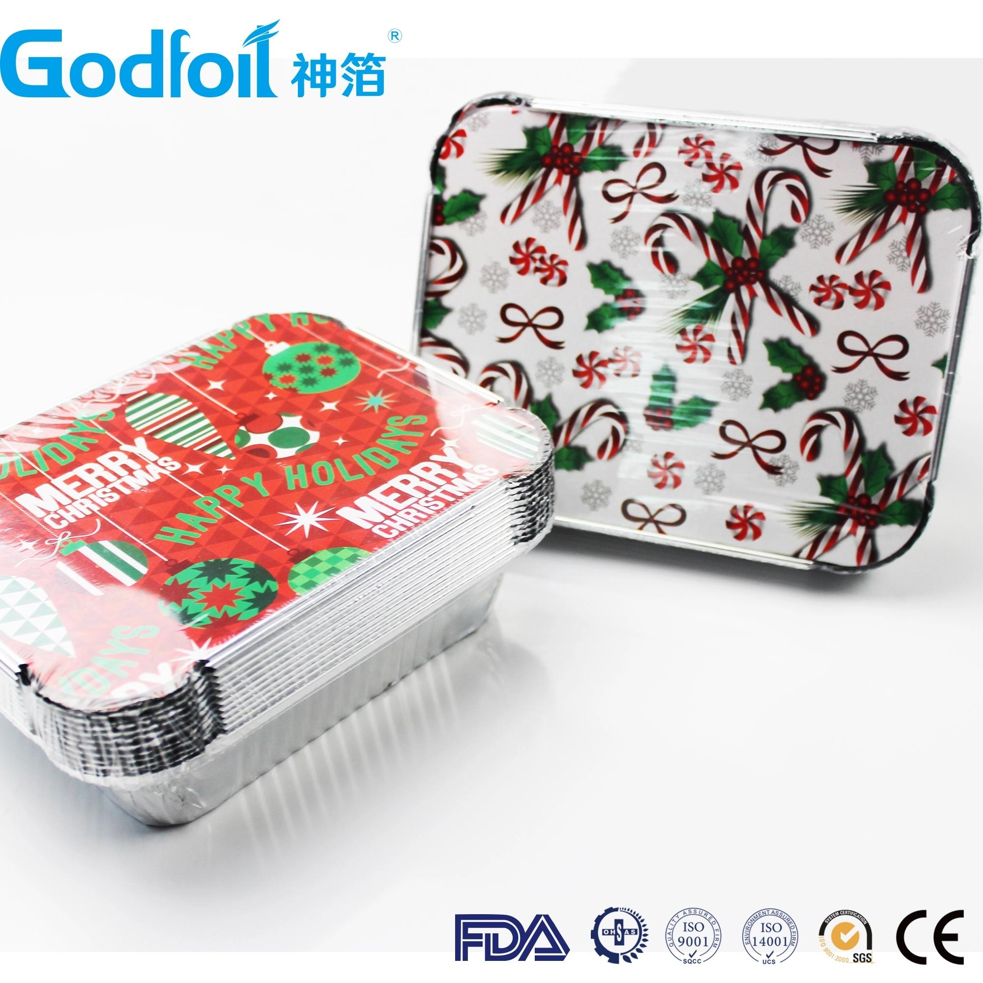 Greaseproof Paper Board Laminated Lids For Aluminum Foil Container 1